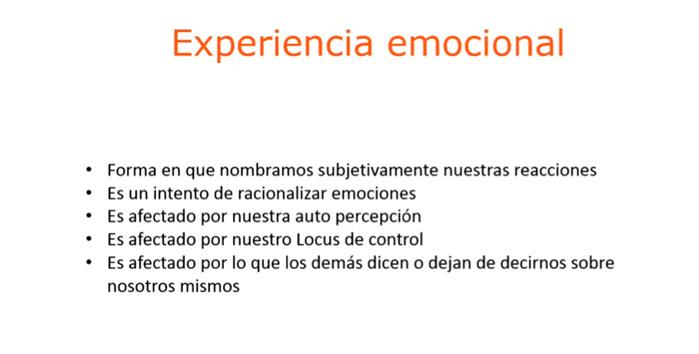 experiencia emocional