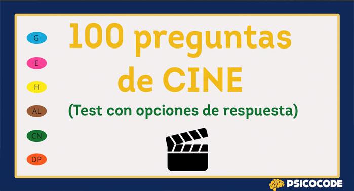 test con preguntas de cine
