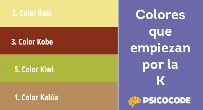 Colores que empiezan por la K