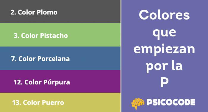 colores que empiezan por P